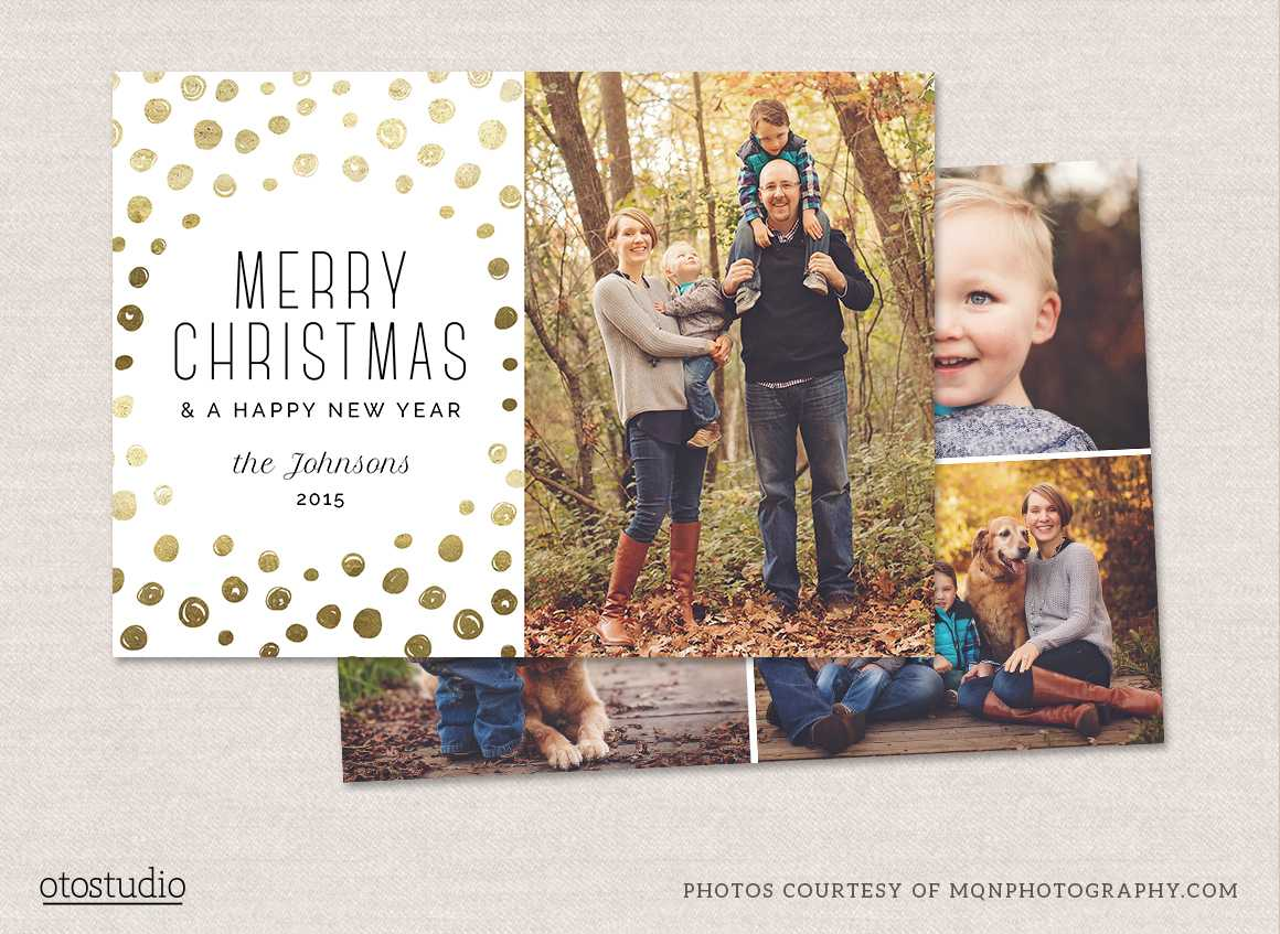 12 Christmas Card Photoshop Templates To Get You Up And Intended For Free Photoshop Christmas Card Templates For Photographers