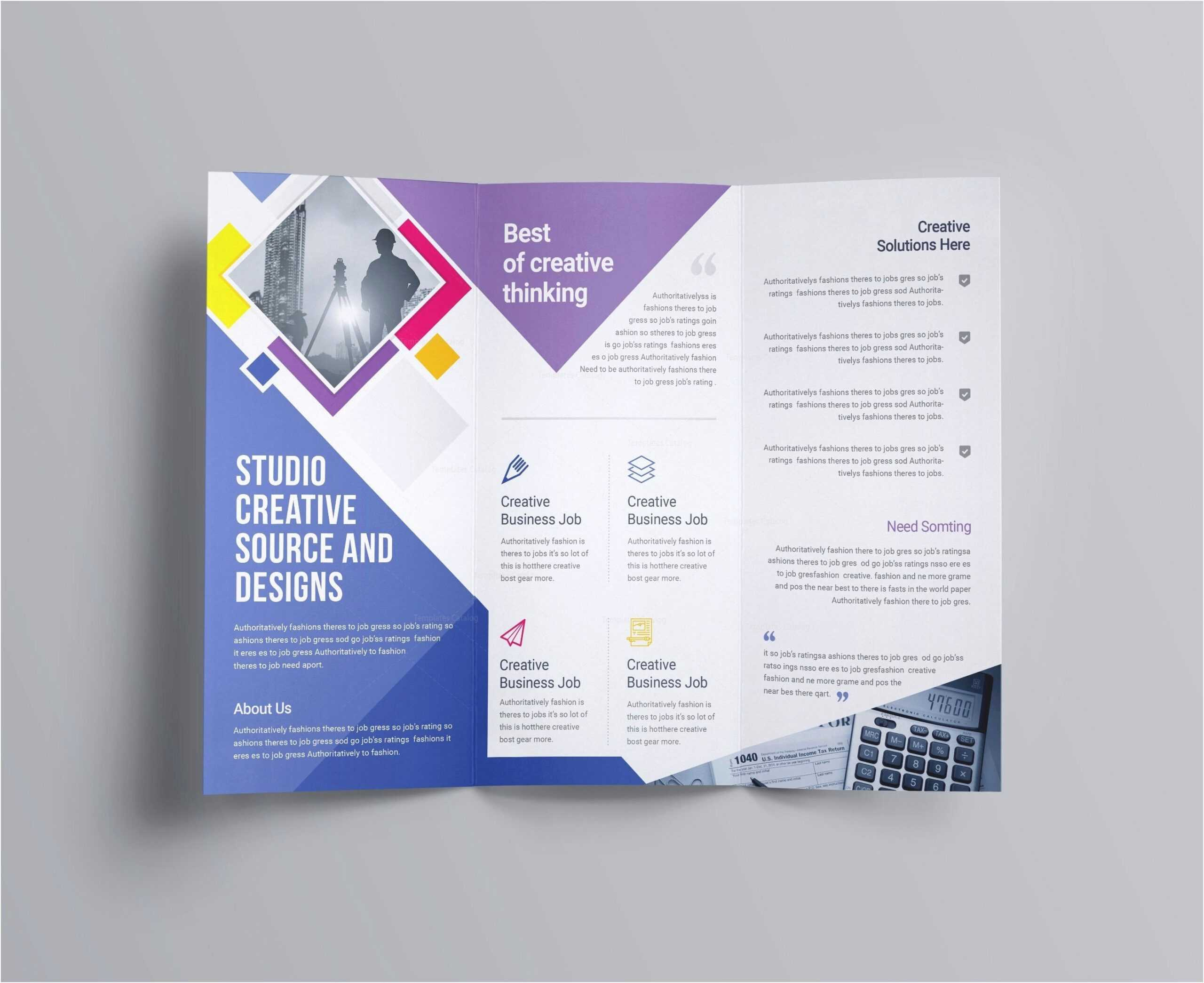 12 Tri Fold Brochure Template Free   Radaircars With Open Office Brochure Template