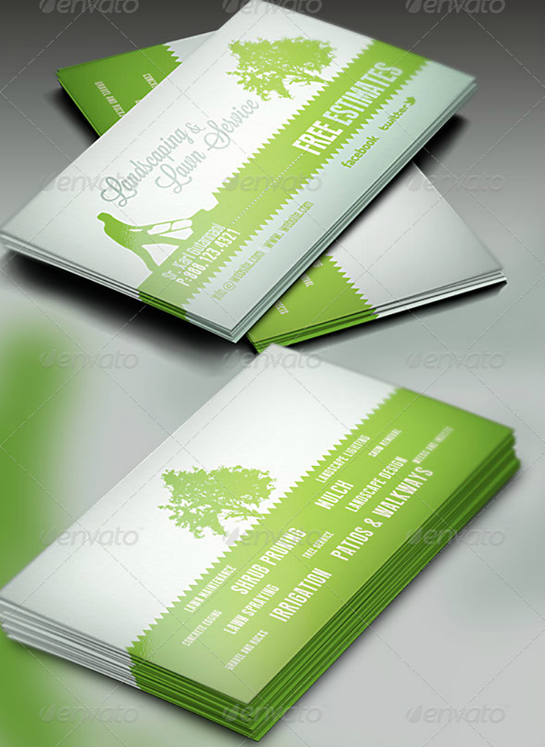 15+ Landscaping Business Card Templates – Word, Psd | Free With Regard To Gardening Business Cards Templates