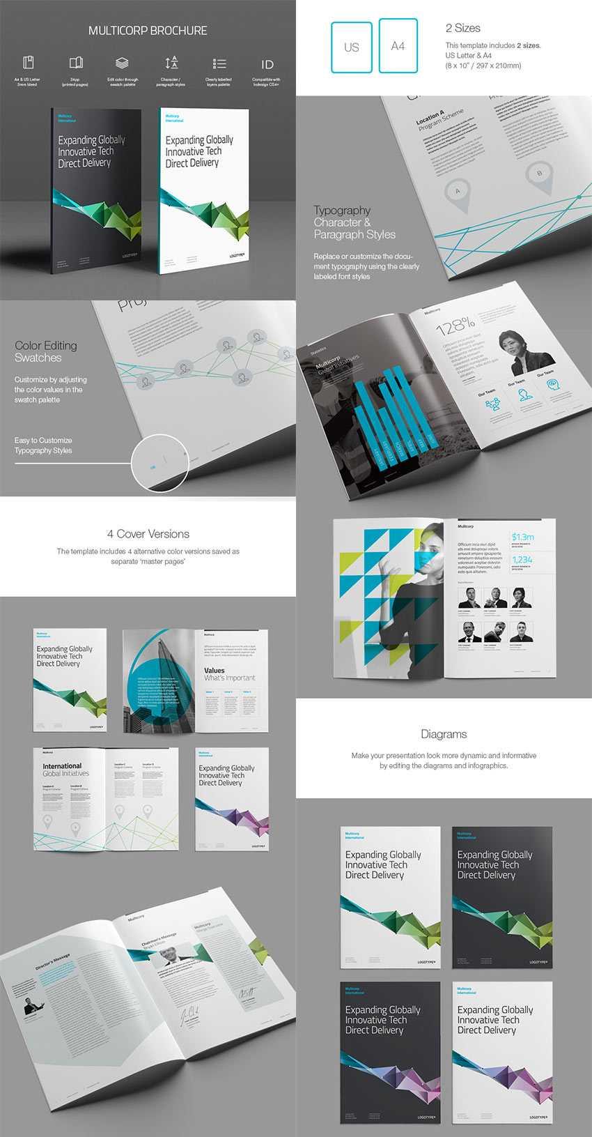 20 Лучших Шаблонов Indesign Brochure - Для Творческого For Brochure Templates Free Download Indesign