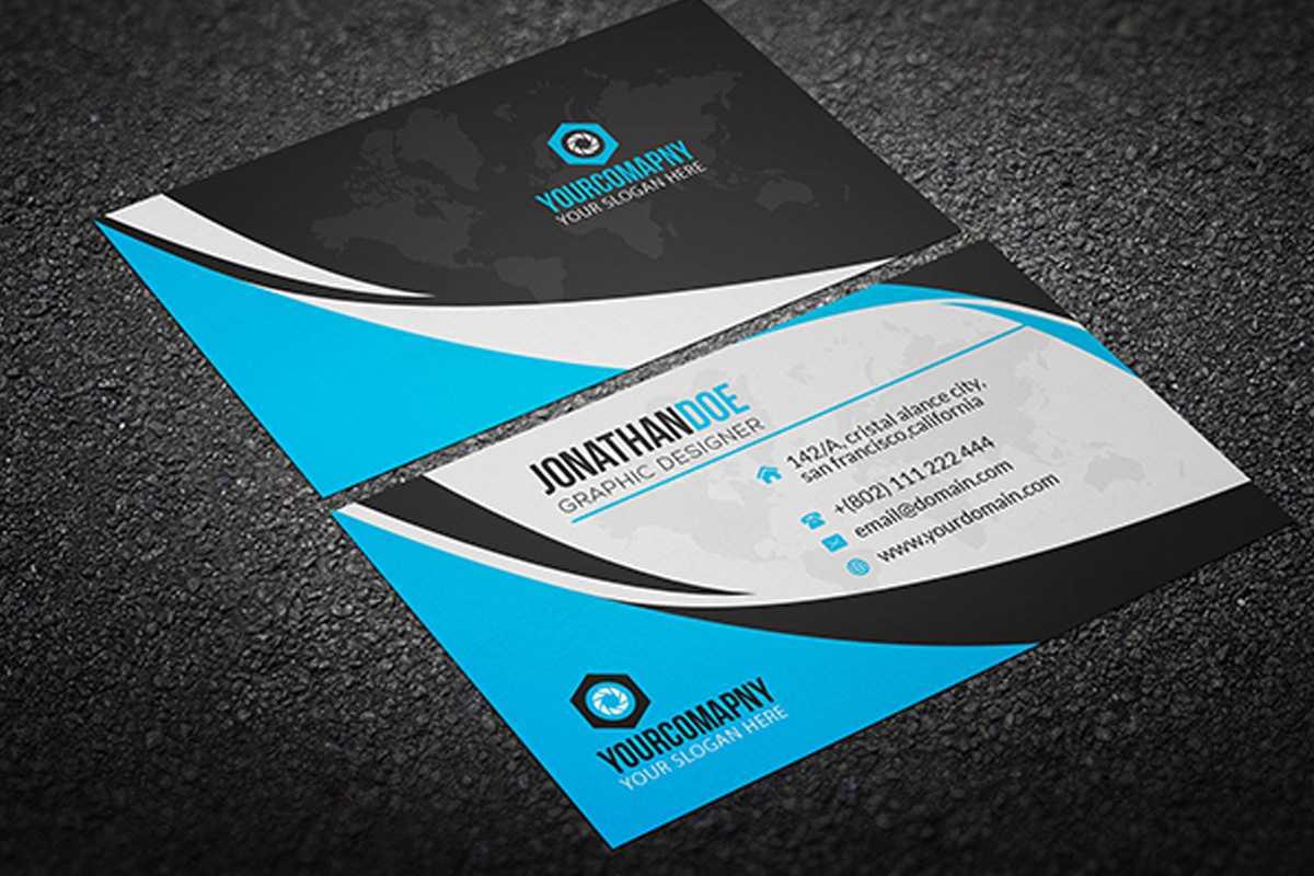 200 Free Business Cards Psd Templates - Creativetacos With Calling Card Template Psd