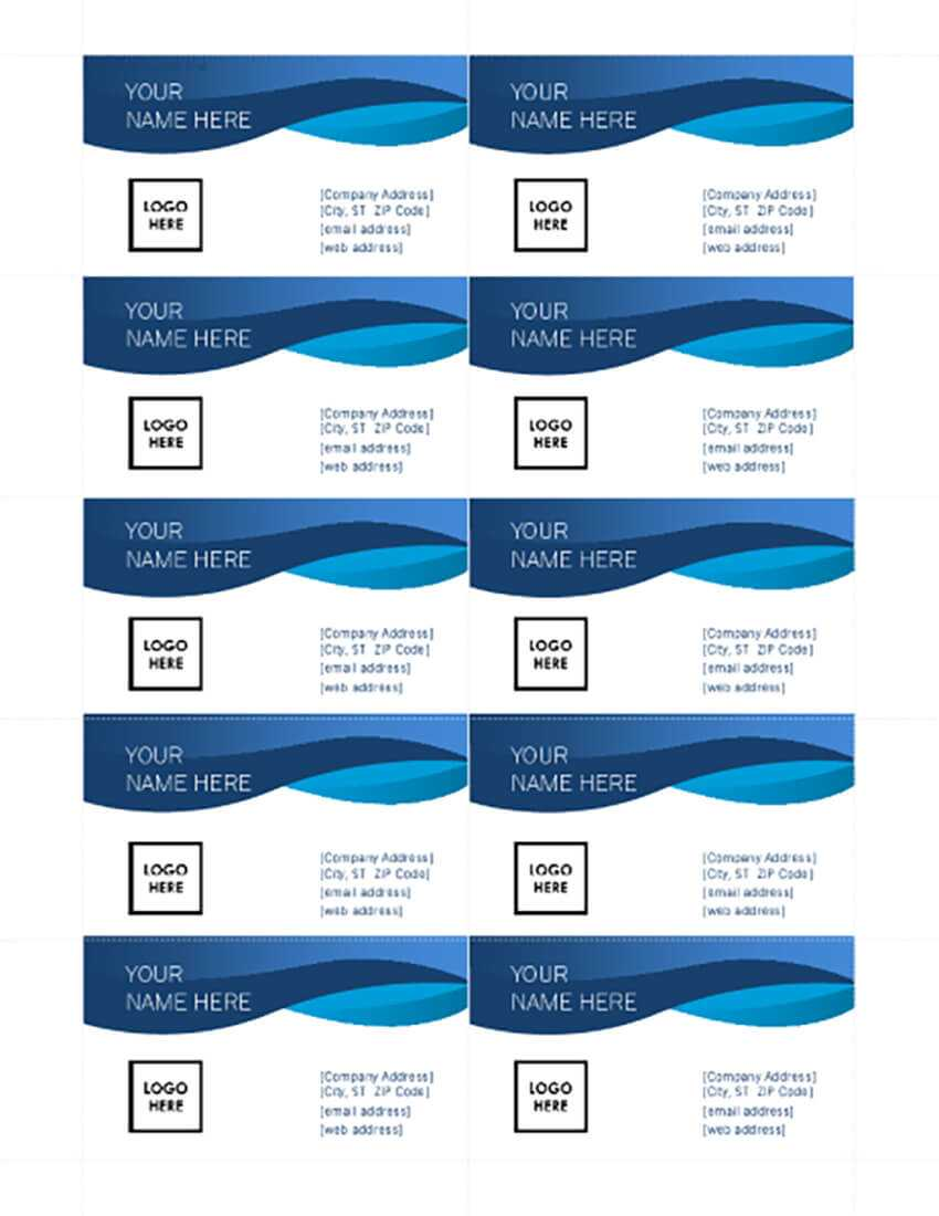 25+ Free Microsoft Word Business Card Templates (Printable In Blank Business Card Template Microsoft Word