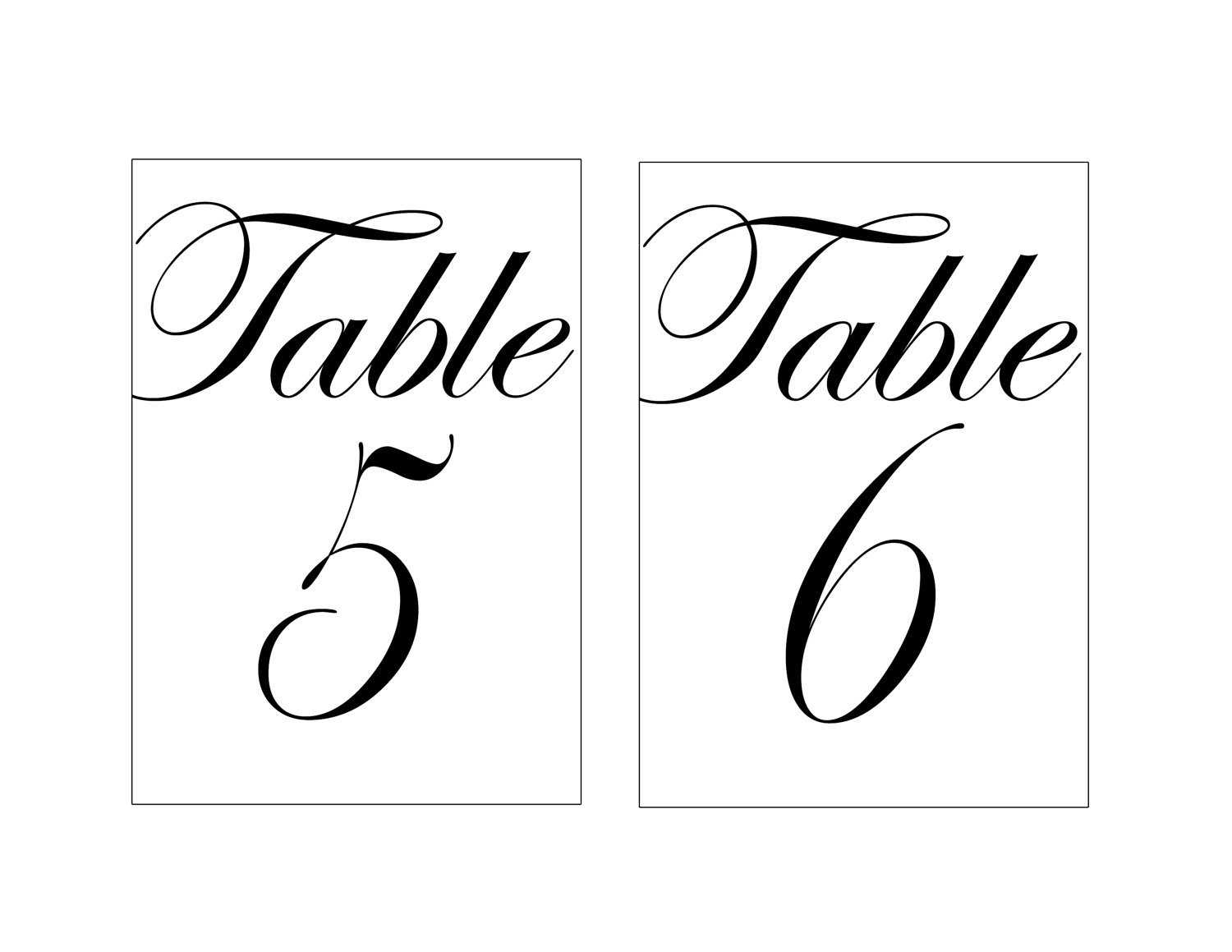 28 Elegant Printable Table Numbers   Kittybabylove Within Table Number Cards Template