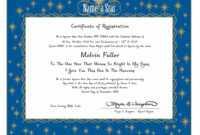 28+ [ Star Certificate Template ] | Shooting Star Specialty intended for Star Naming Certificate Template