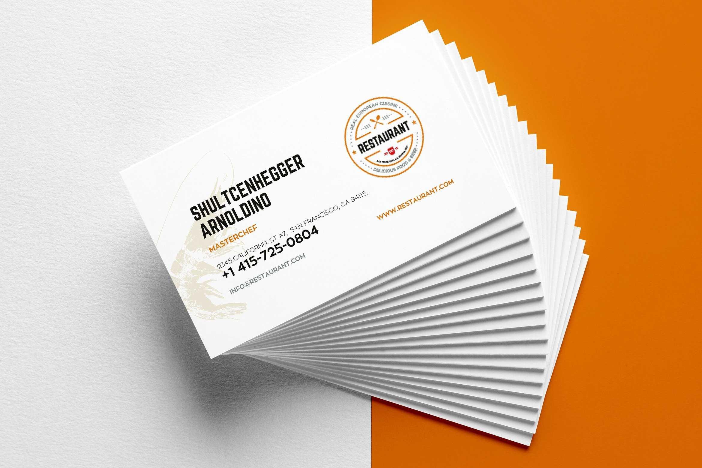 29+ Creative Restaurant Business Card Templates - Ai, Apple For Business Cards For Teachers Templates Free