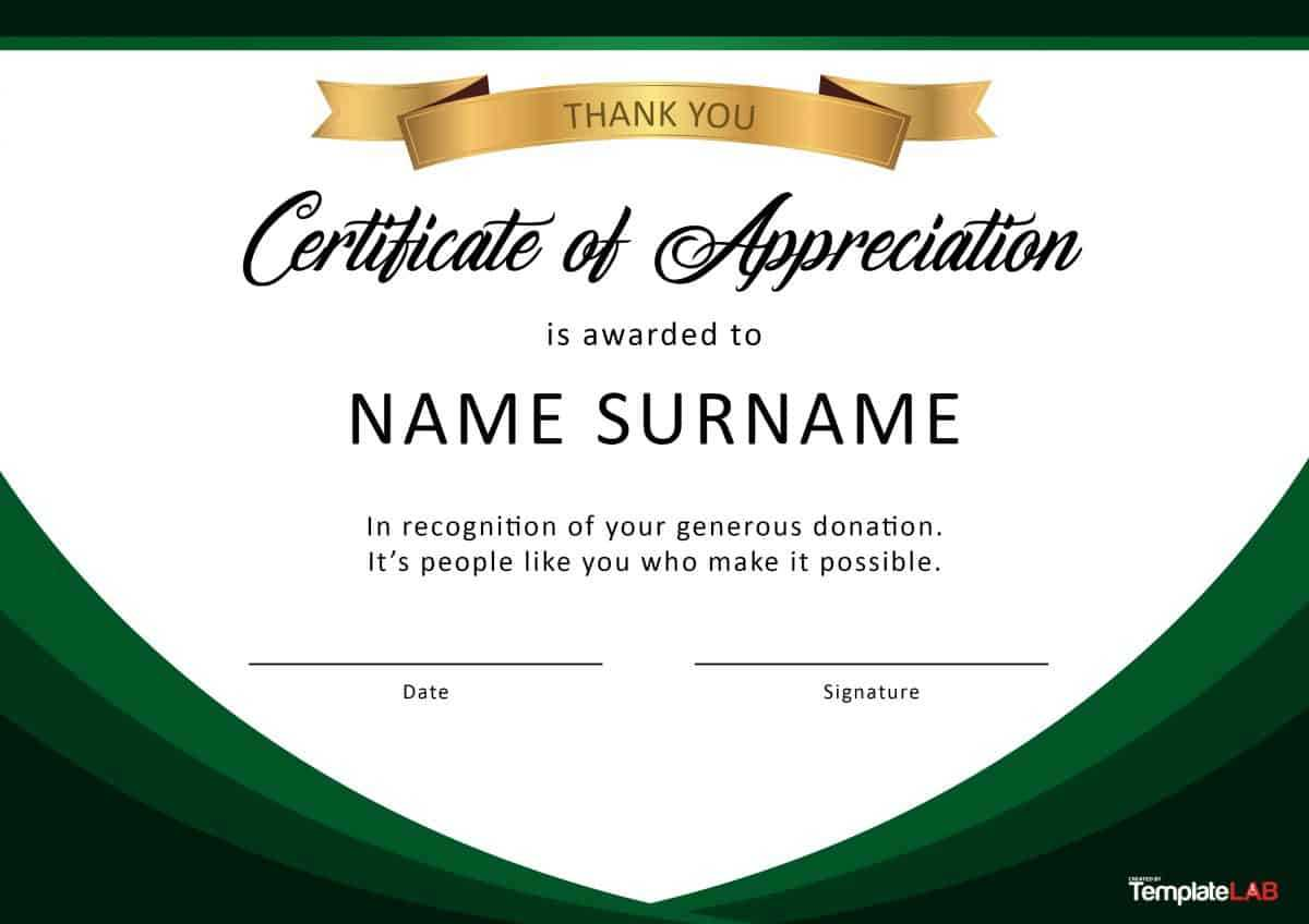 30 Free Certificate Of Appreciation Templates And Letters Inside Retirement Certificate Template