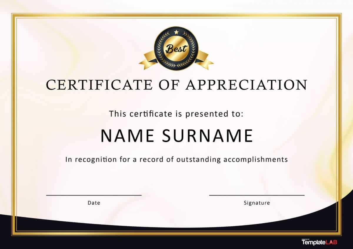 30 Free Certificate Of Appreciation Templates And Letters Within Gratitude Certificate Template