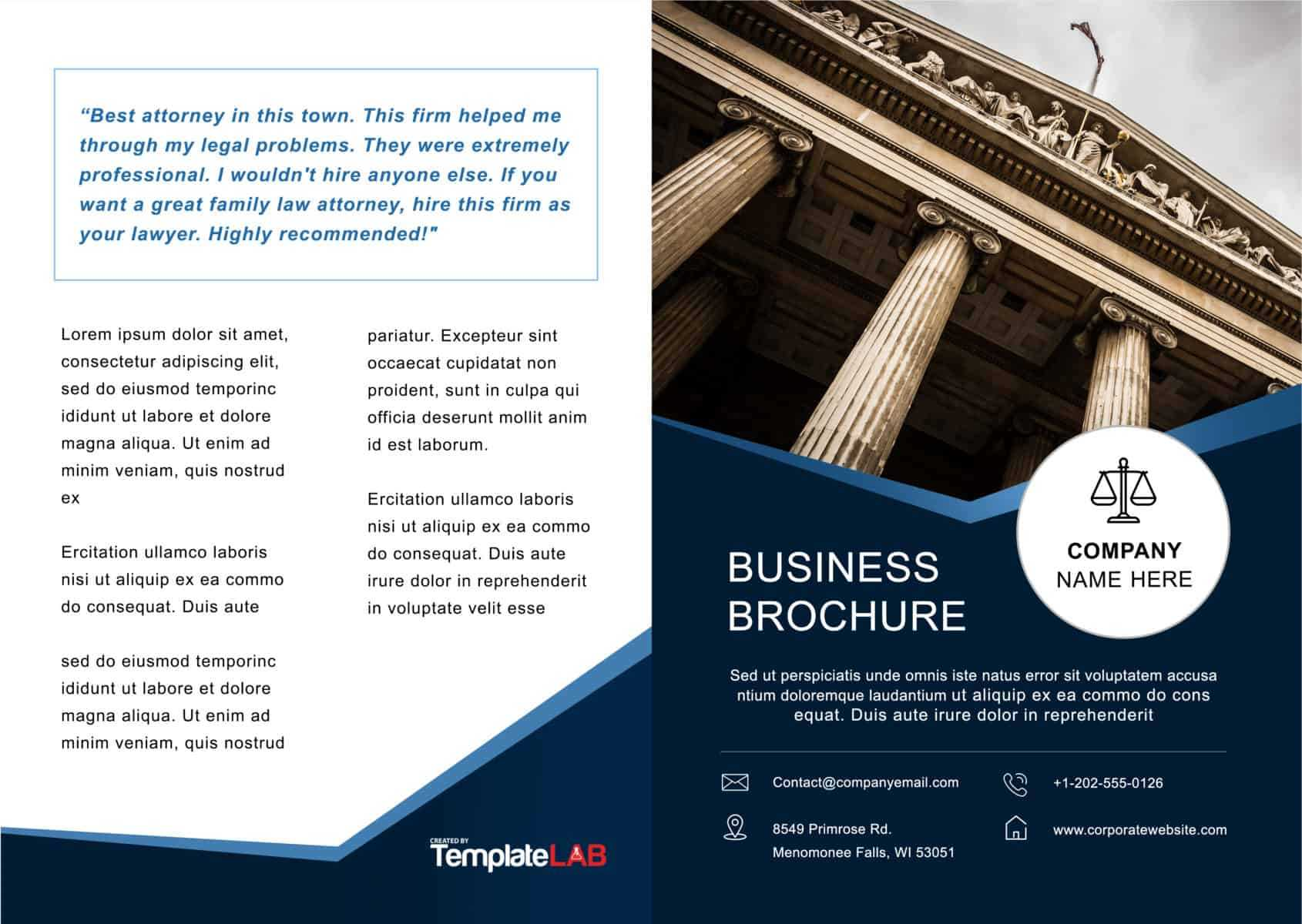 33 Free Brochure Templates (Word + Pdf) ᐅ Templatelab In One Page Brochure Template