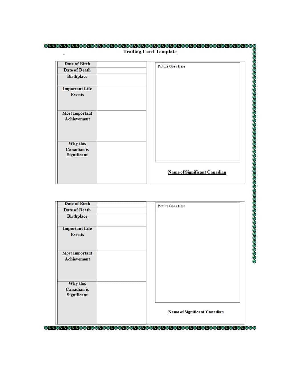 33 Free Trading Card Templates (Baseball, Football, Etc With Trading Card Template Word