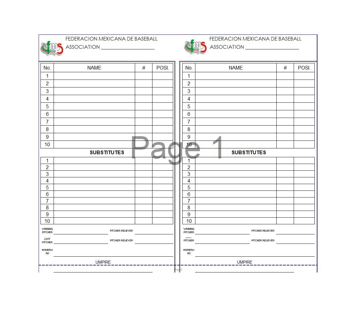 33 Printable Baseball Lineup Templates [Free Download] ᐅ Throughout Dugout Lineup Card Template