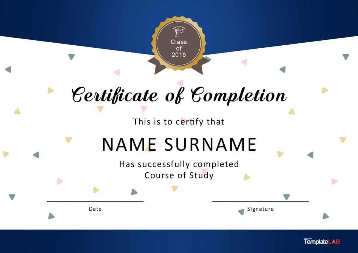 40 Fantastic Certificate Of Completion Templates [Word With In Certificate Of Completion Word Template