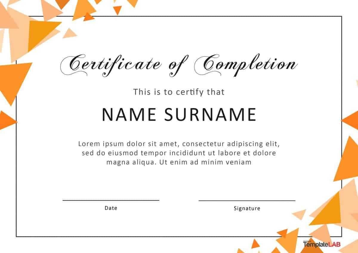 40 Fantastic Certificate Of Completion Templates [Word With Word 2013 Certificate Template