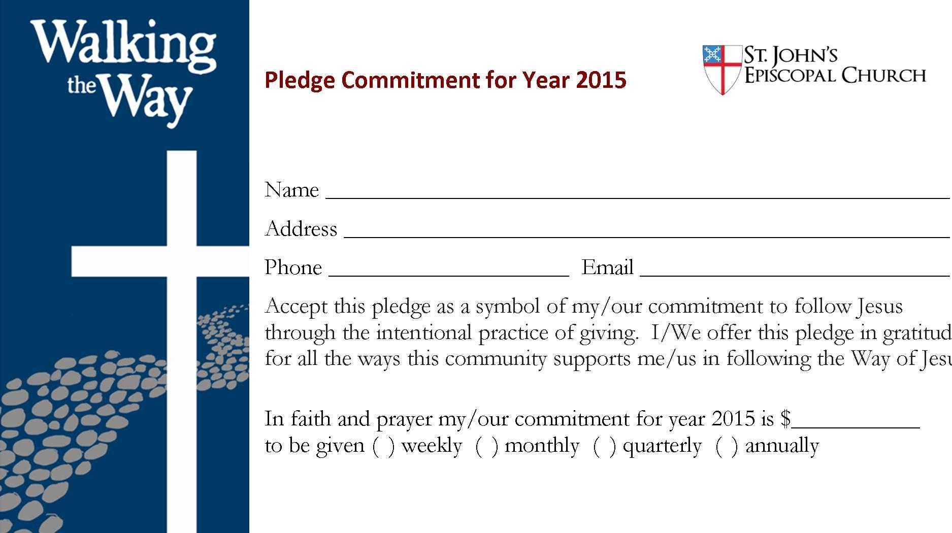 4570Book | Church Building Campaign Pledge Cards Clipart In Throughout Building Fund Pledge Card Template