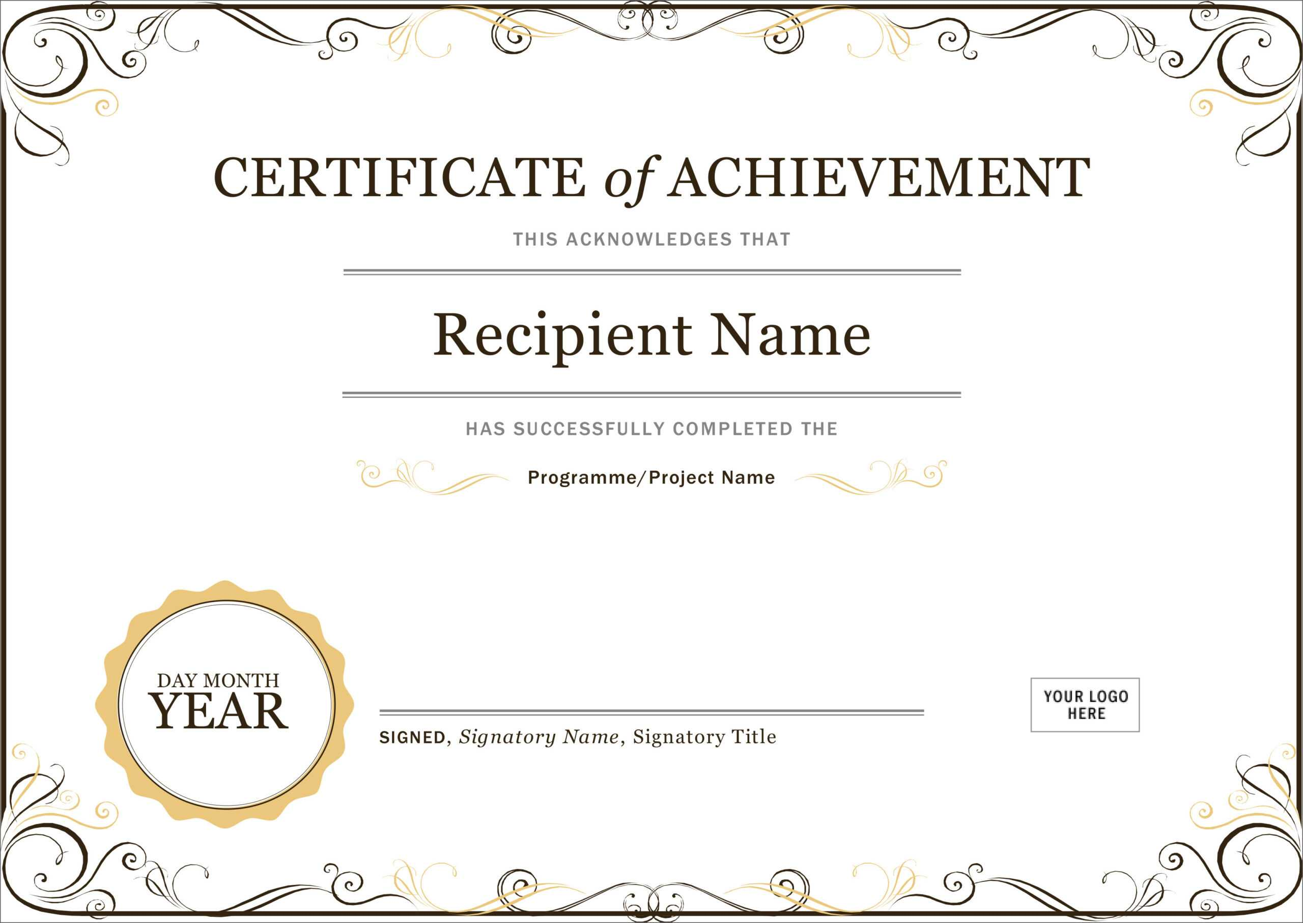 50 Free Creative Blank Certificate Templates In Psd Pertaining To Word 2013 Certificate Template