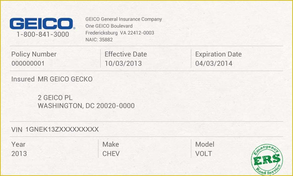 Auto Insurance Card Template - Calep.midnightpig.co Regarding Proof Of Insurance Card Template