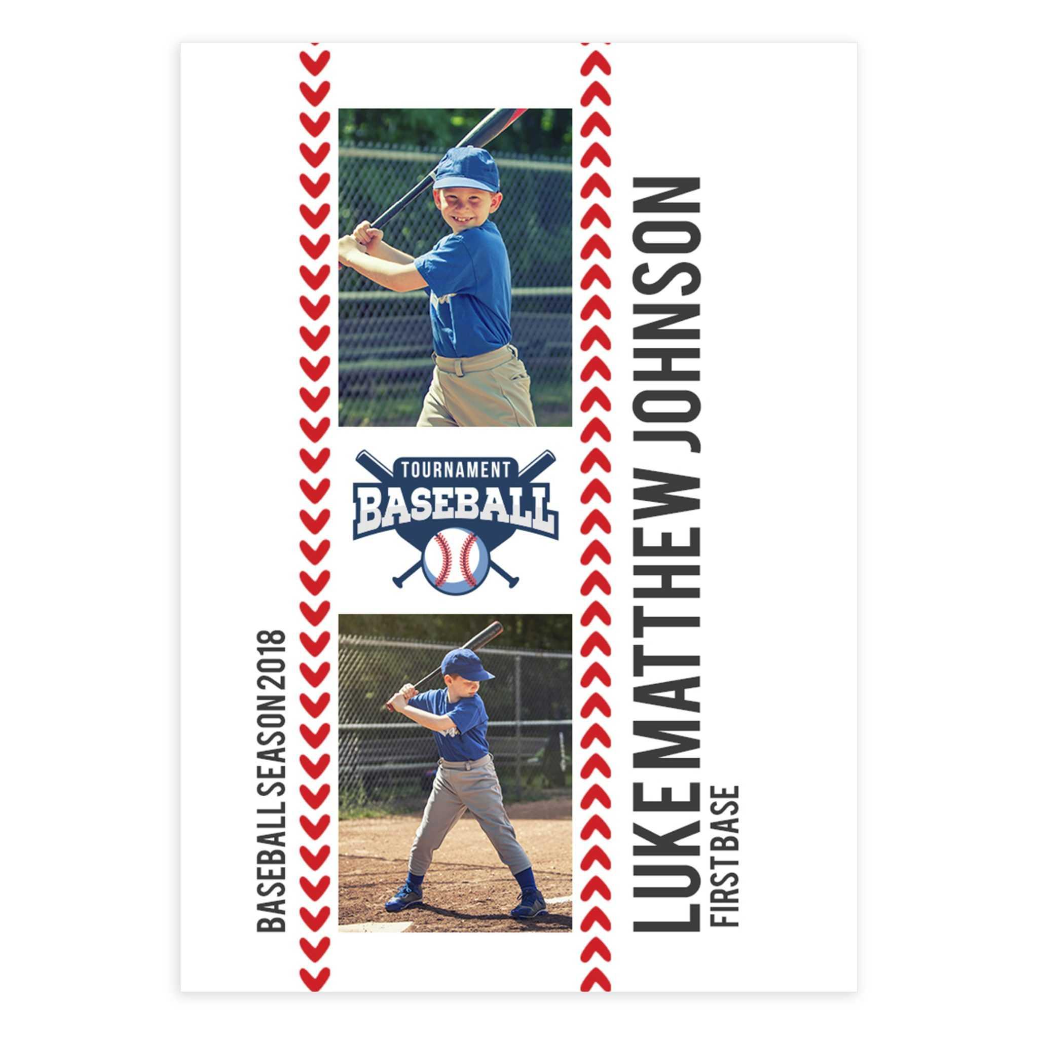 Baseball Card Template (2.5 X 3.5) For Baseball Card Template Psd