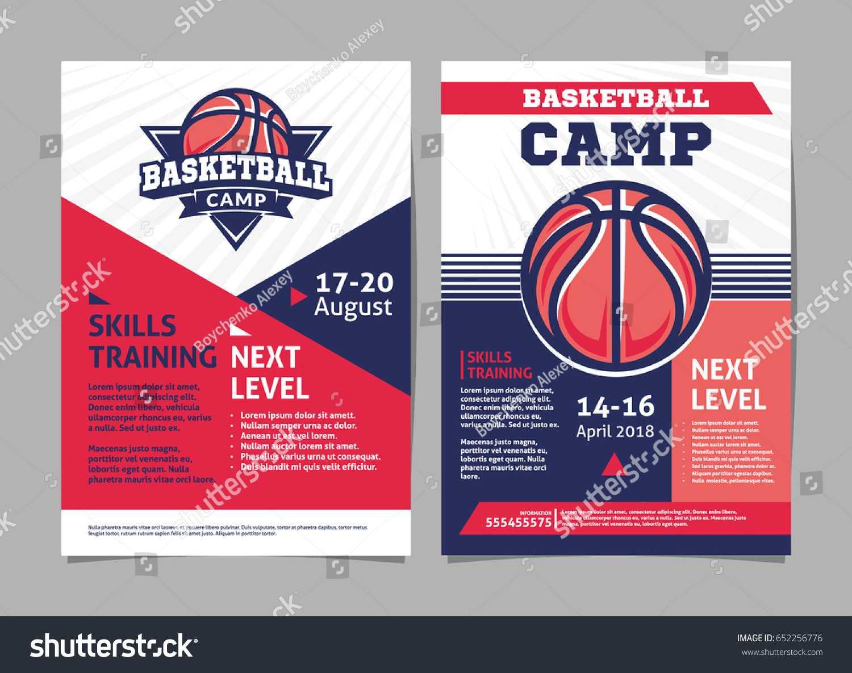 Basketball Camp Posters Flyer Basketball Ball Pertaining To Basketball Camp Brochure Template