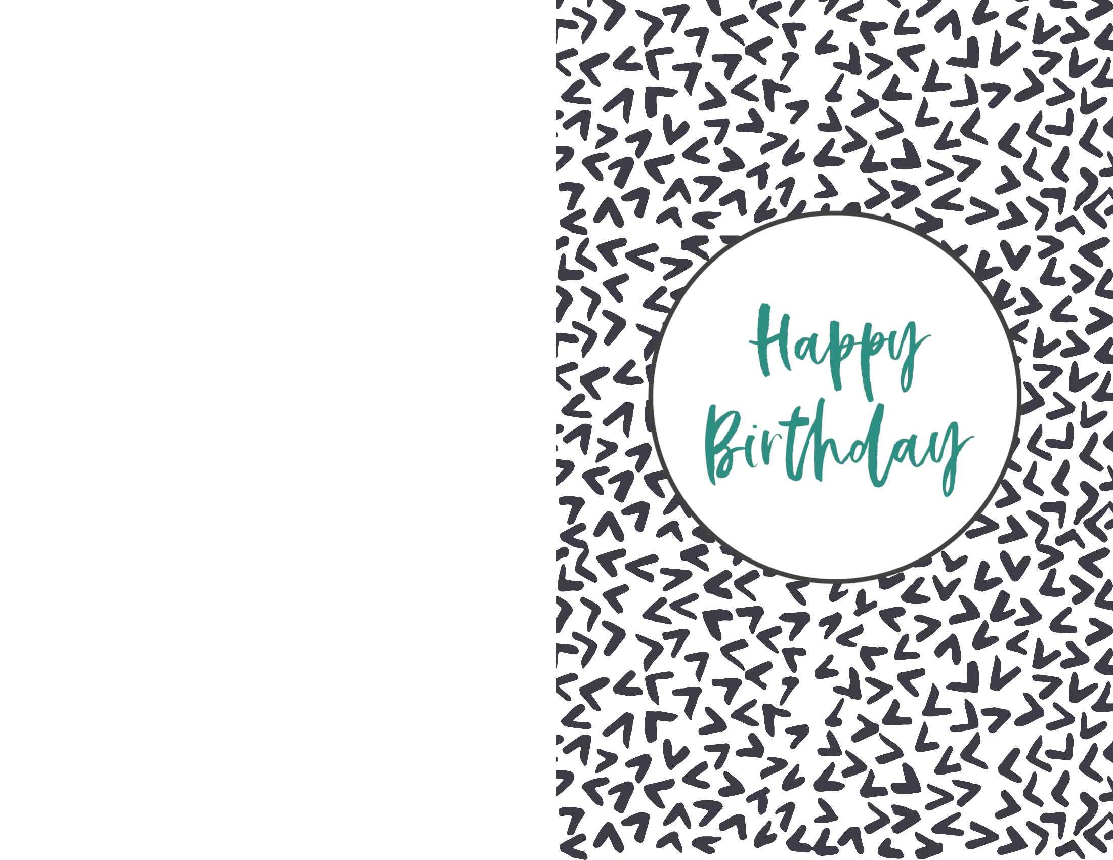 Birthday Card Print Out - Dalep.midnightpig.co Regarding Foldable Birthday Card Template