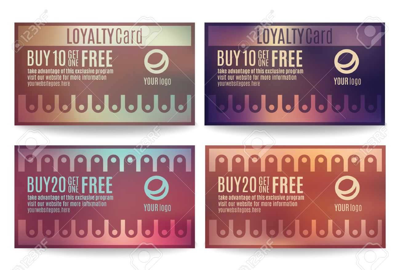 Bright And Colorful Customer Loyalty Card Or Reward Card Templates Inside Customer Loyalty Card Template Free