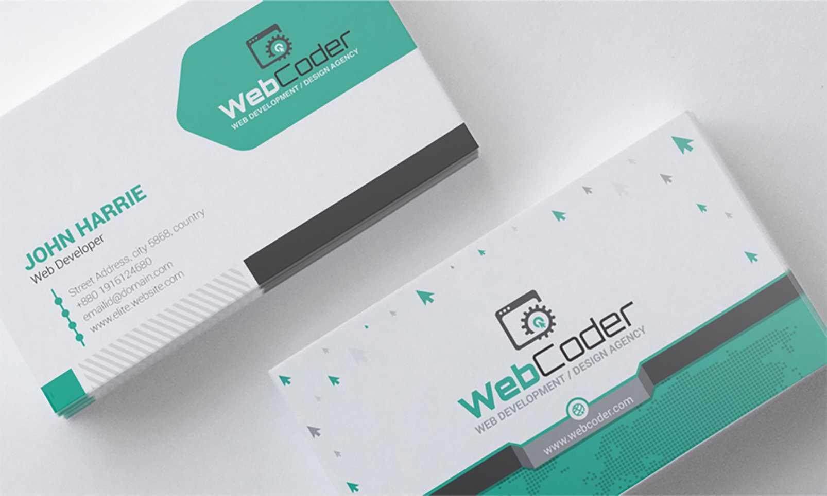 'business Card Design For Web Design And Developer' - Адаптивний Psd Шаблон  №66306 In Web Design Business Cards Templates