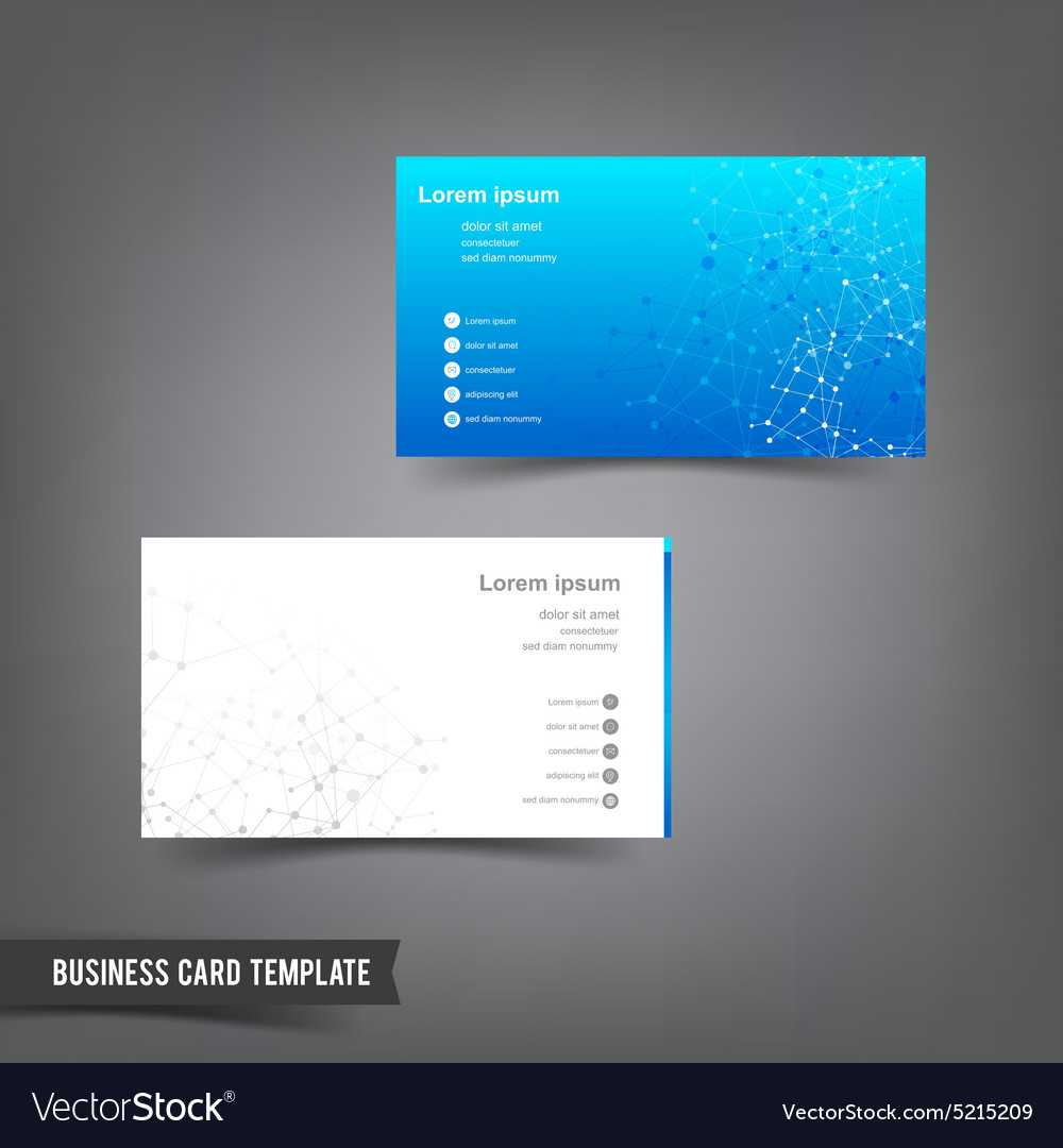 Business Card Template Set 025 Connection Network With Networking Card Template
