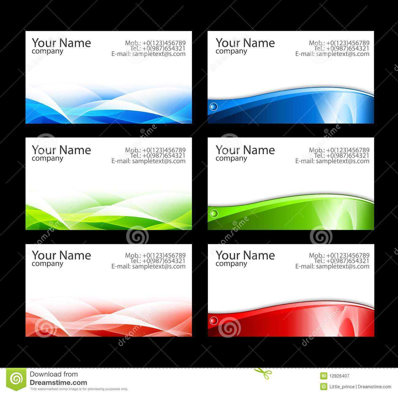 Business Cards Templates Stock Illustration. Illustration Of Intended For Templates For Visiting Cards Free Downloads