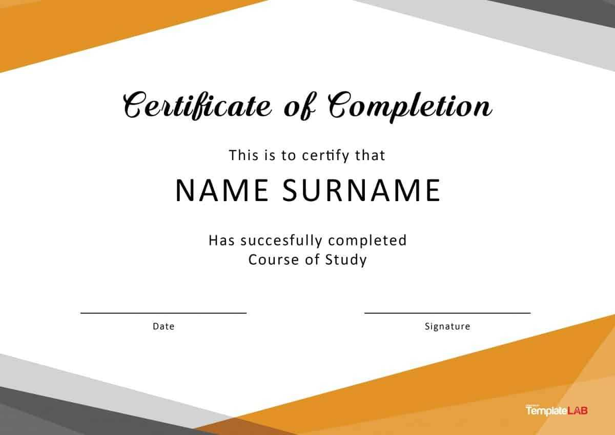 Certificate Of Completion - Dalep.midnightpig.co For Certificate Of Completion Template Free Printable