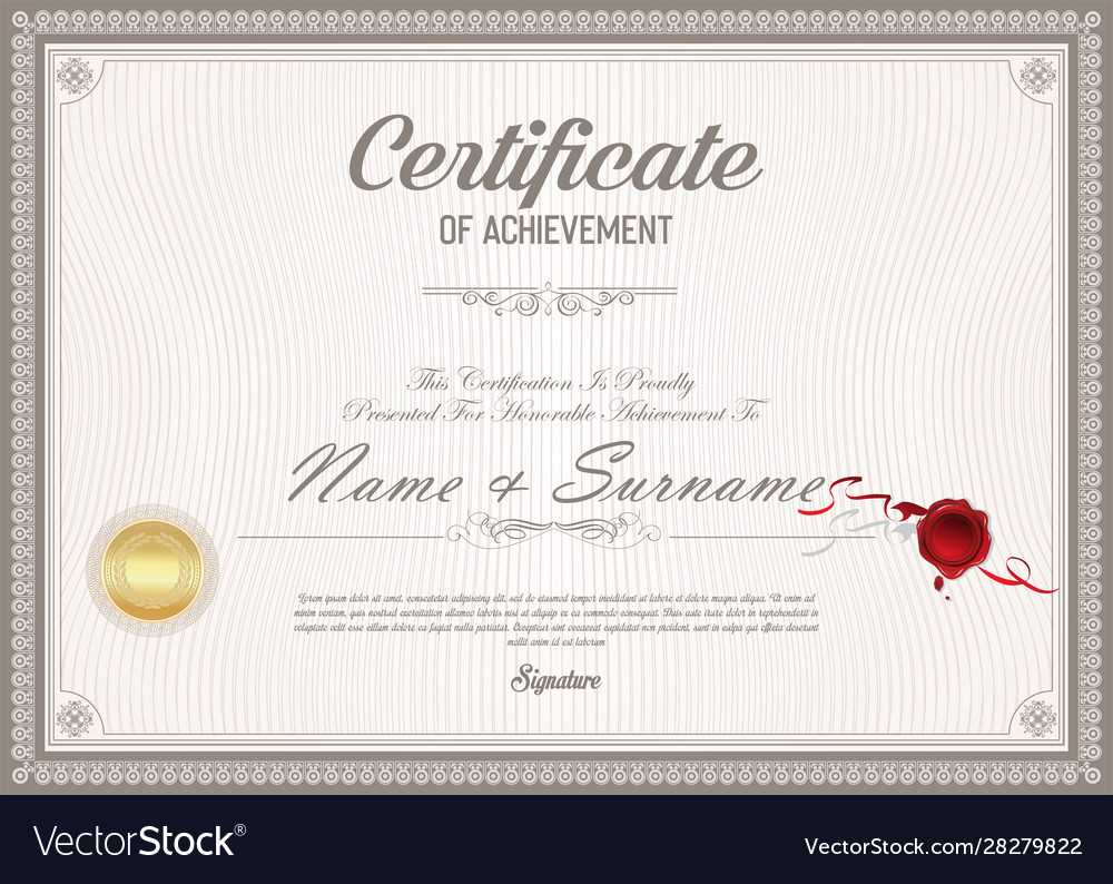 Certificate Or Diploma Retro Vintage Template 022 Throughout Ged Certificate Template