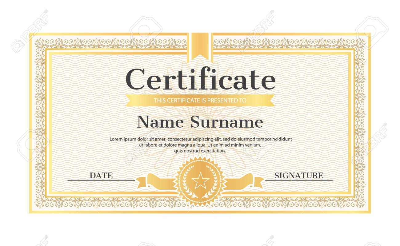 Certificate Template Editable Name And Surname, Date And Signature,.. With Regard To Star Naming Certificate Template