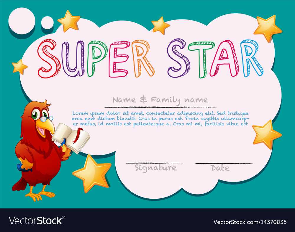 Certificate Template For Super Star With Regard To Star Naming Certificate Template