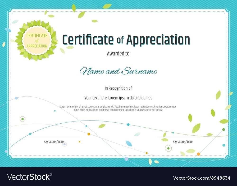 Certificate Template Of Appreciation   Safebest.xyz With In Appreciation Certificate Templates