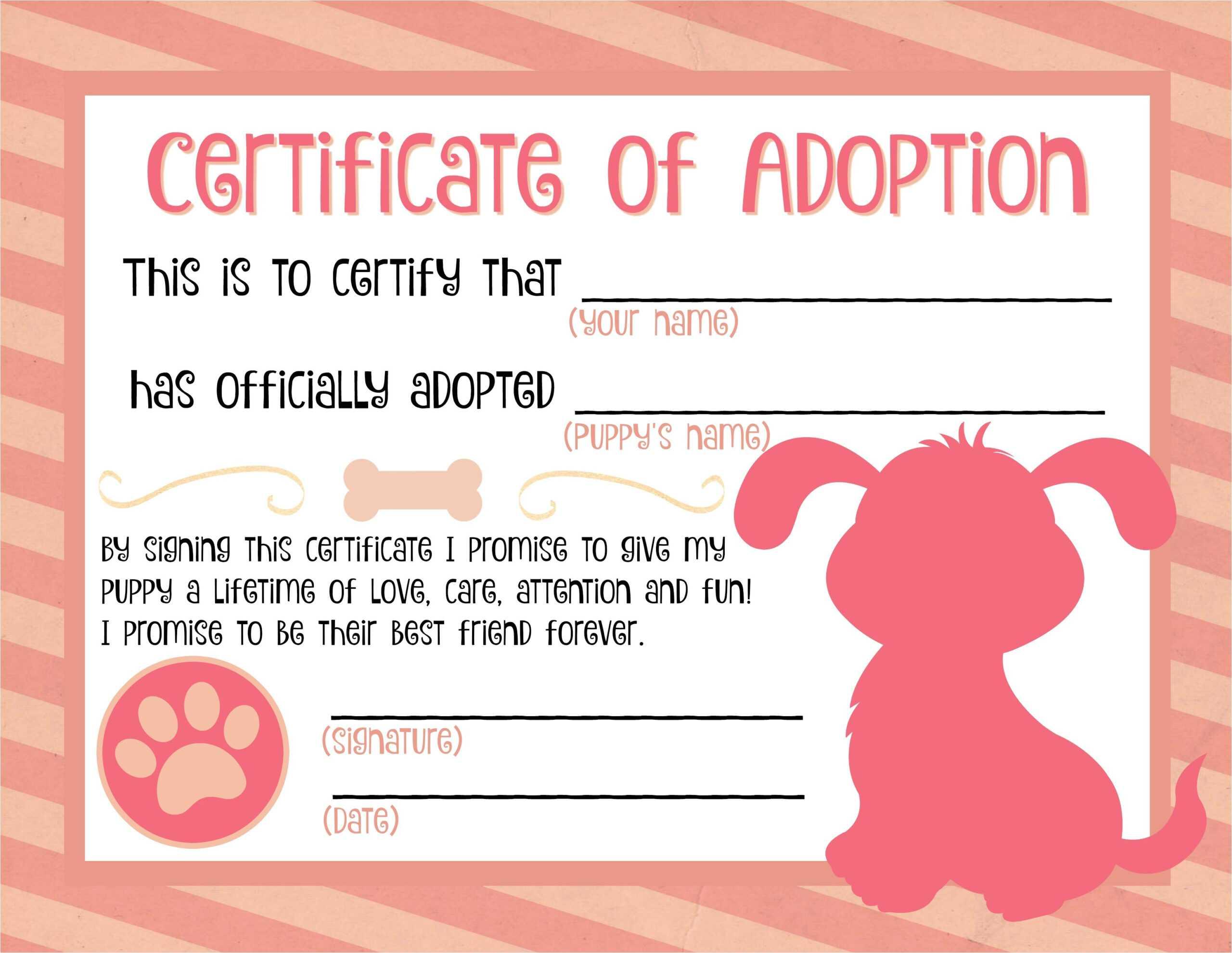 Child Adoption Certificate Template - Dalep.midnightpig.co Within Child Adoption Certificate Template