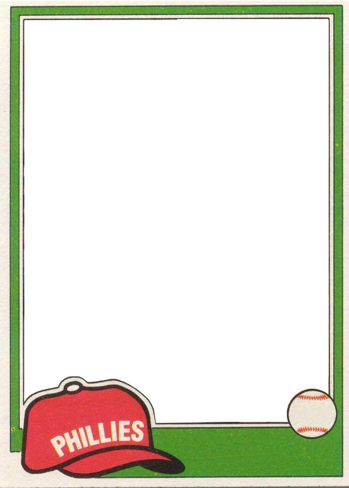Clipart Baseball Card Logo Pertaining To Baseball Card Template Psd
