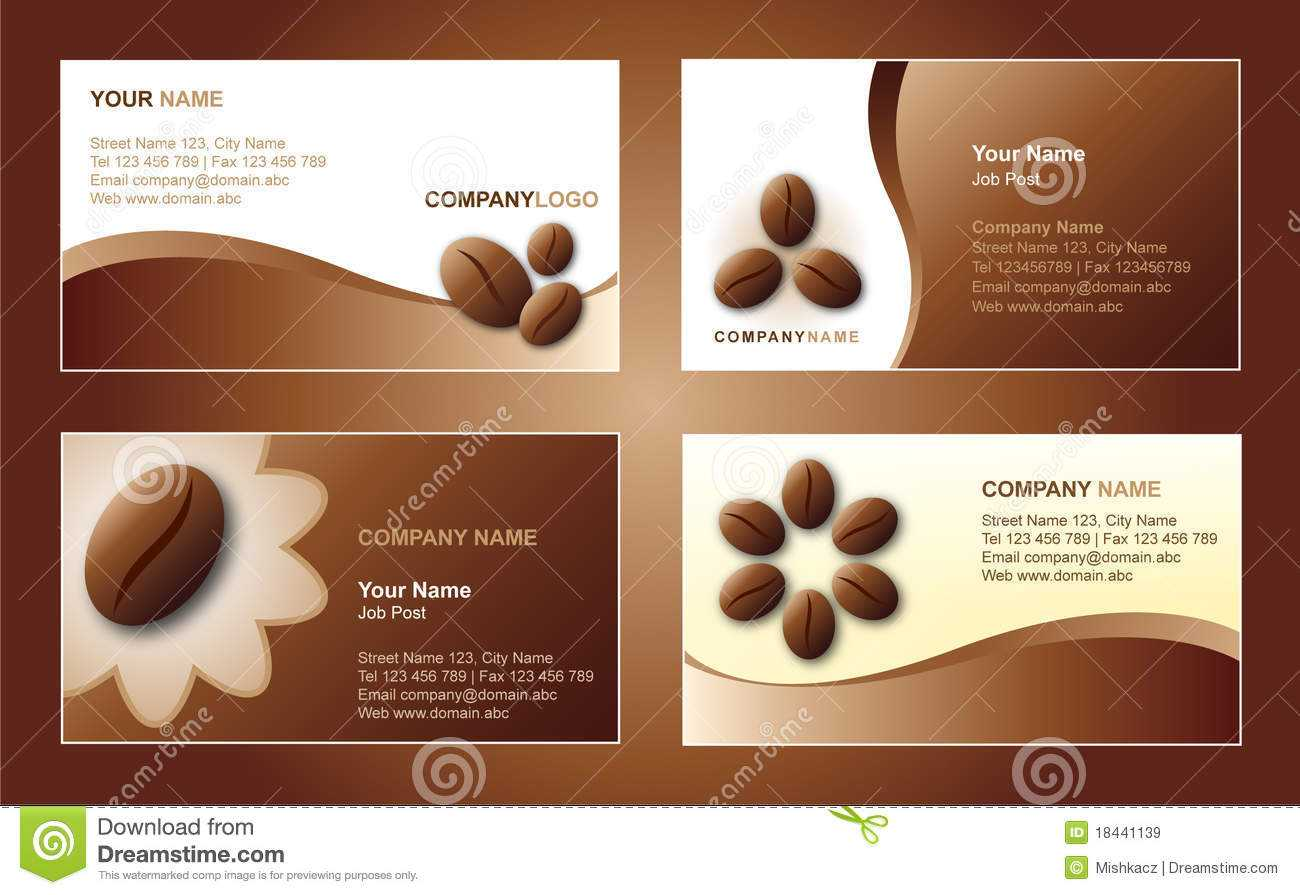 Coffee Business Card Template Stock Vector - Illustration Of Throughout Coffee Business Card Template Free