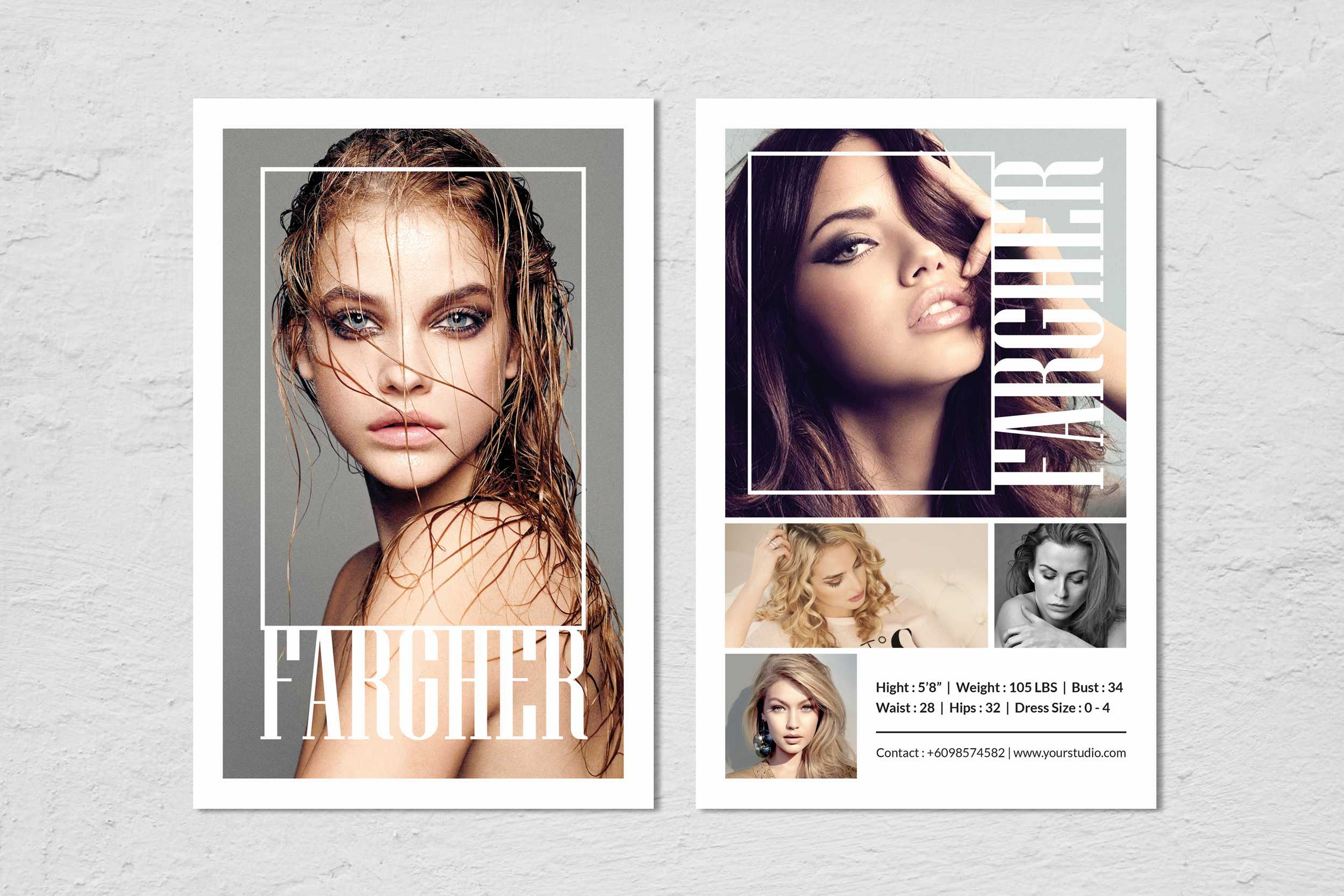Comp Card Template - Calep.midnightpig.co For Zed Card Template