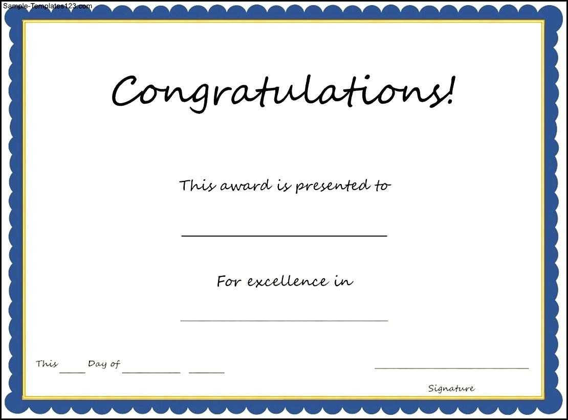 Congratulation Certificates Templates - Calep.midnightpig.co Inside Congratulations Certificate Word Template