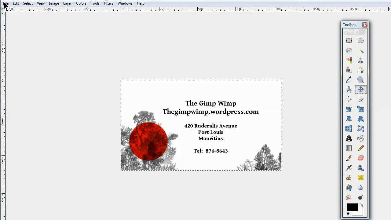 Custom Business Card In Gimp 2.8The Gimpwimp Intended For Gimp Business Card Template