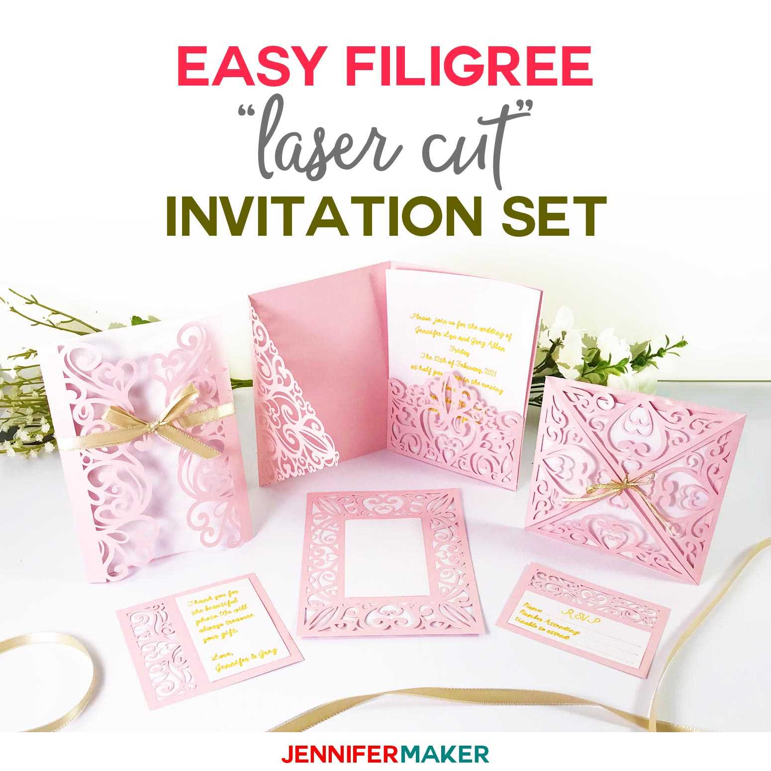 "Diy Wedding Invitation Templates - Free ""laser Cut"" Set Throughout Free Svg Card Templates"