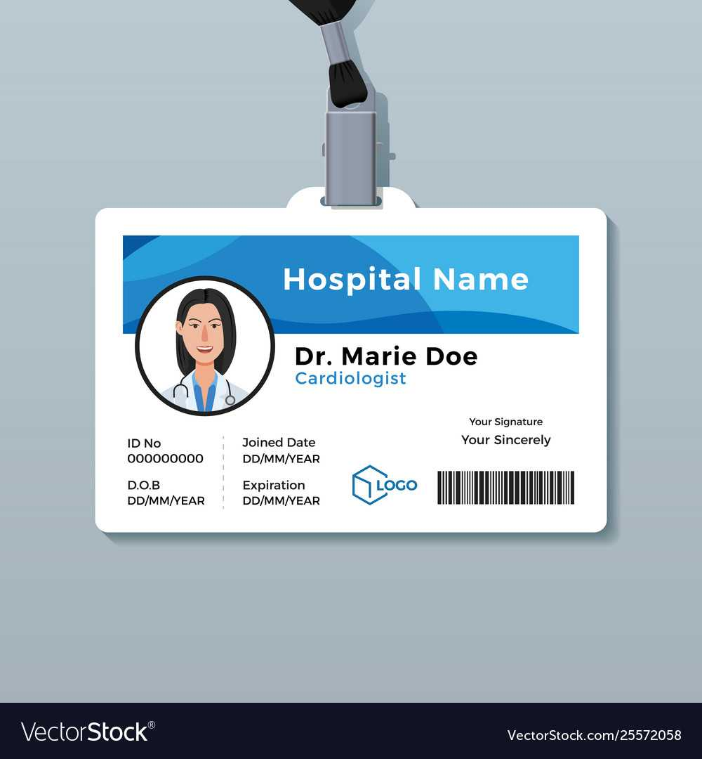 Doctor Id Card Medical Identity Badge Template Within Doctor Id Card Template