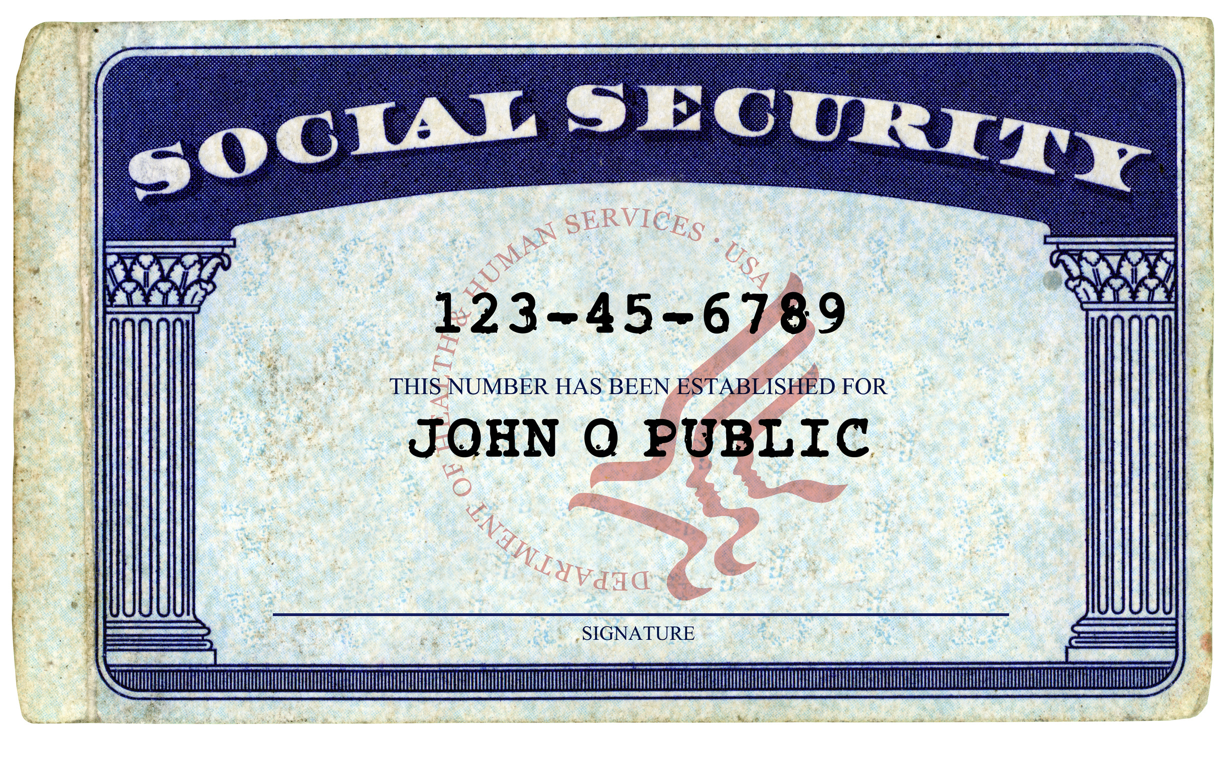 Don't Give Your Social Security Number At These Places With Regard To Ssn Card Template