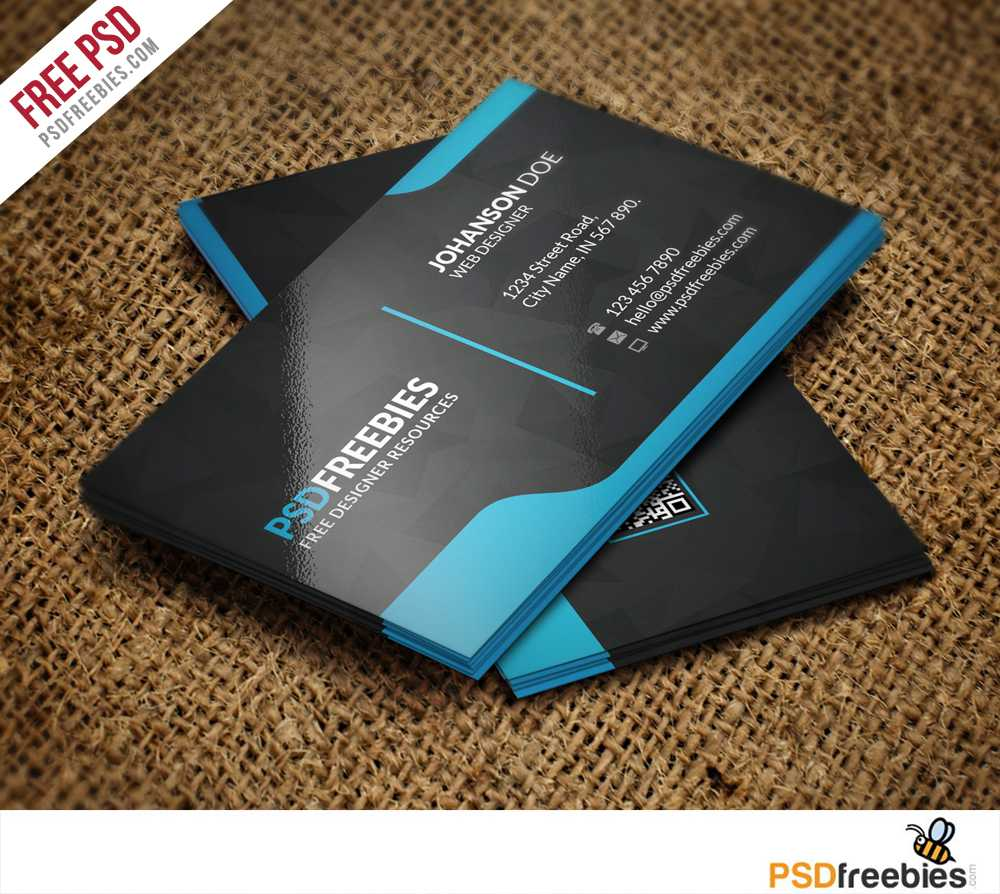 Download Free Qr Code Business Card Psd - Download Psd Inside Visiting Card Template Psd Free Download