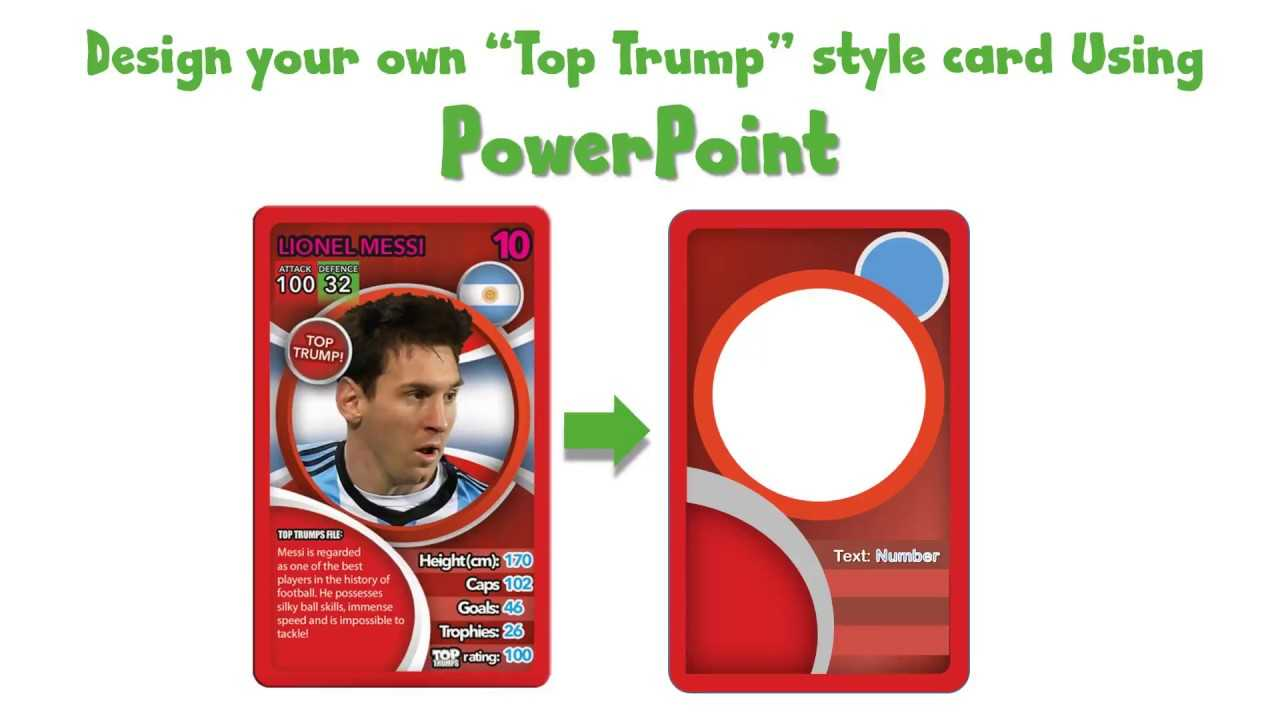 Draw A Top Trump Card Using Powerpoint - Youtube Intended For Top Trump Card Template