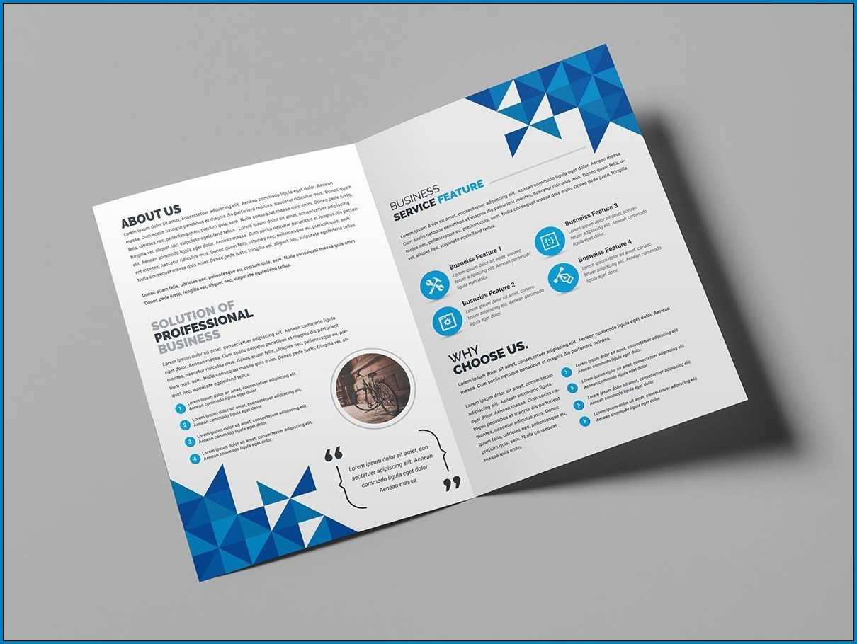 √ Free Printable Bi Fold Brochure Template | Templateral Pertaining To 2 Fold Brochure Template Free