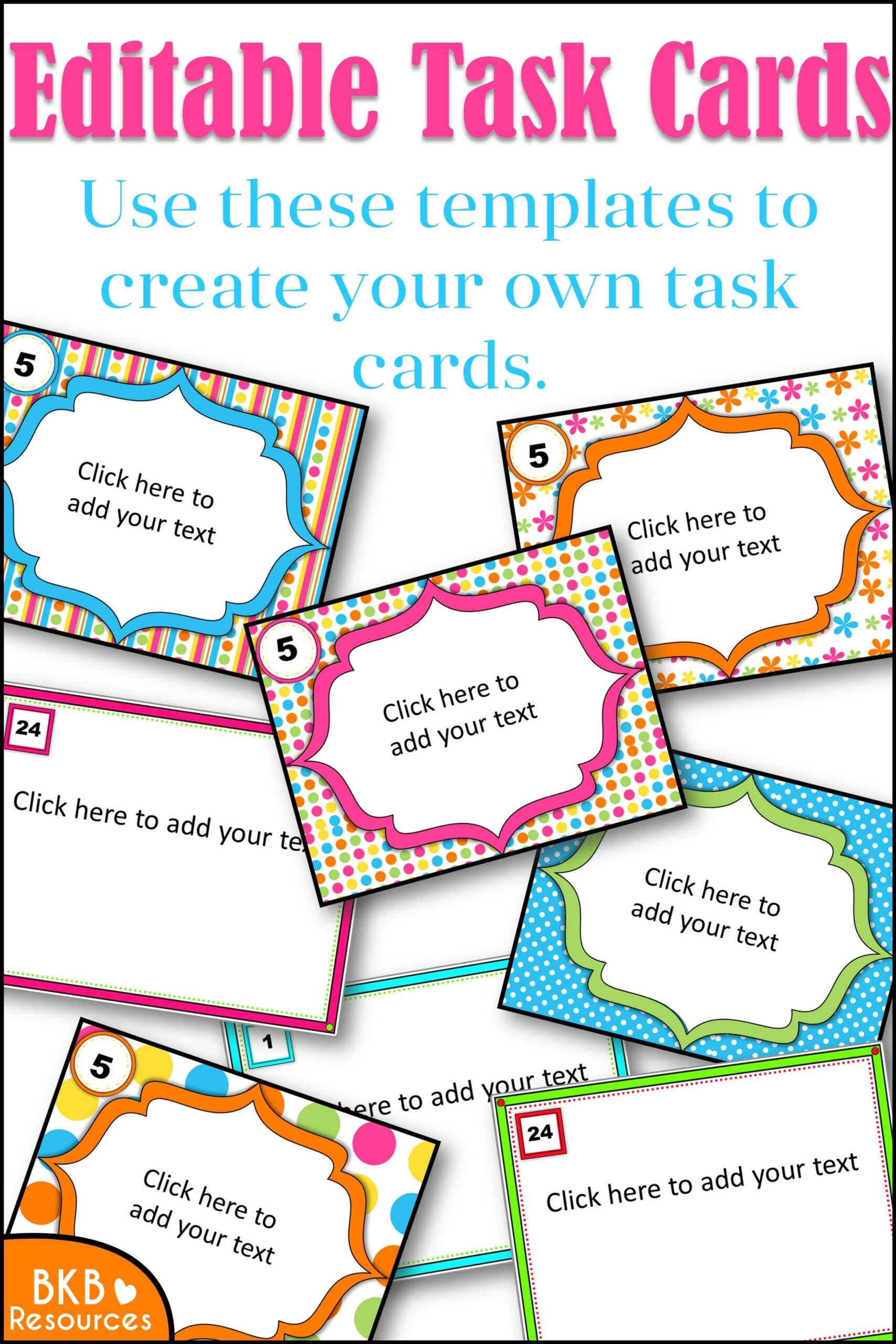 Editable Task Card Templates - Bkb Resources Intended For Task Cards Template