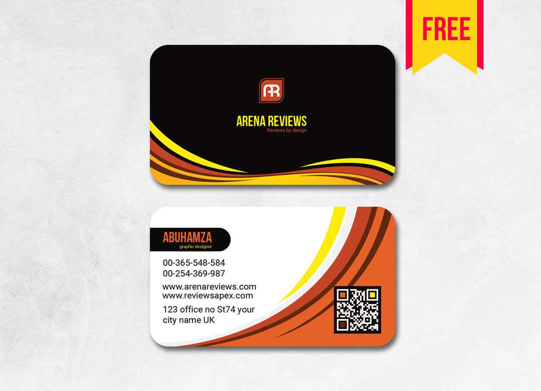 Elegant Business Card Template Free | Free Download With Visiting Card Templates Download