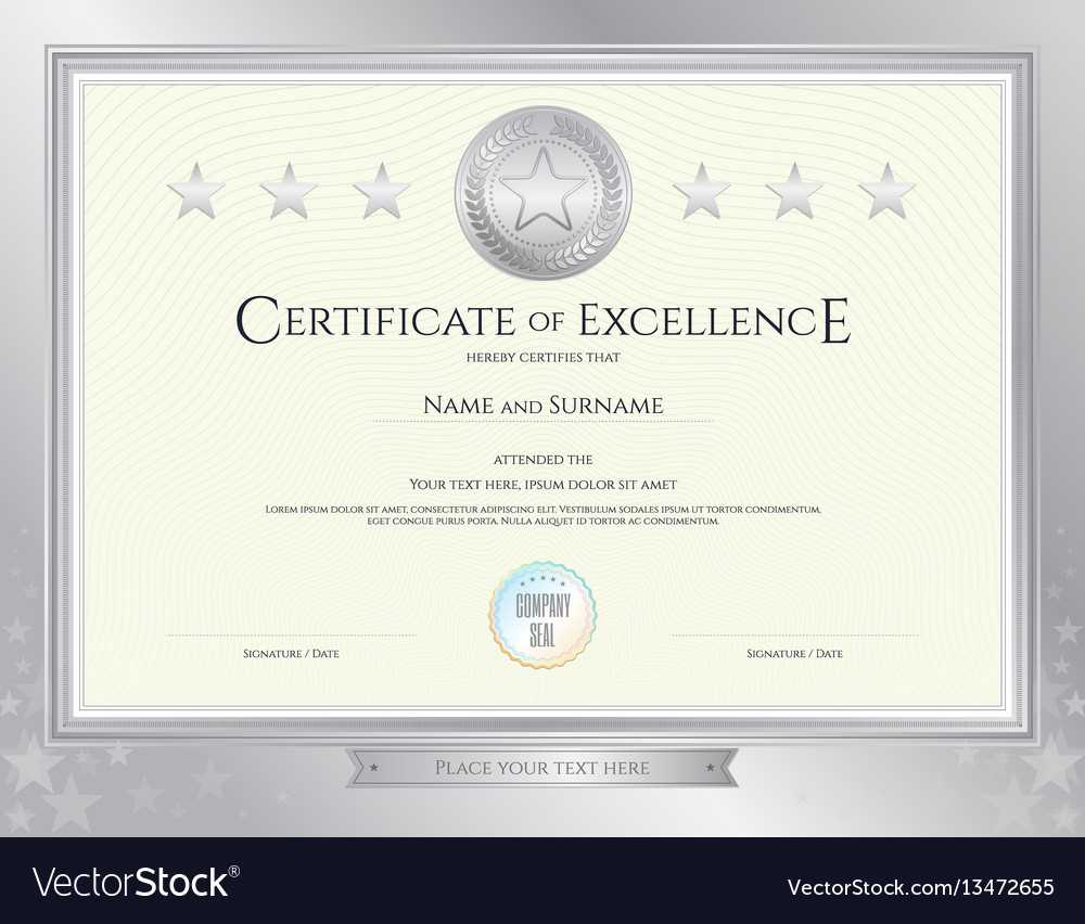 Elegant Certificate Template For Excellence Throughout Commemorative Certificate Template