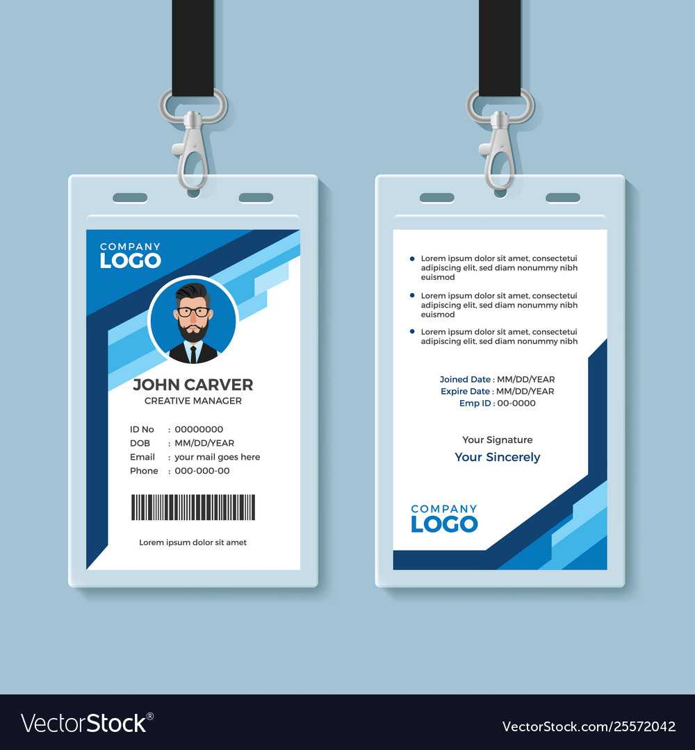 employee card template word  business professional templates