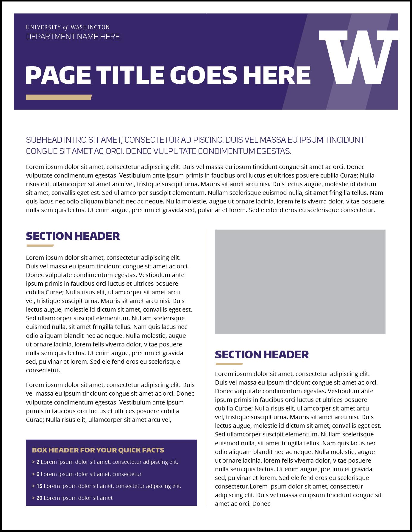 Fact Sheet   Uw Brand Inside Fact Card Template