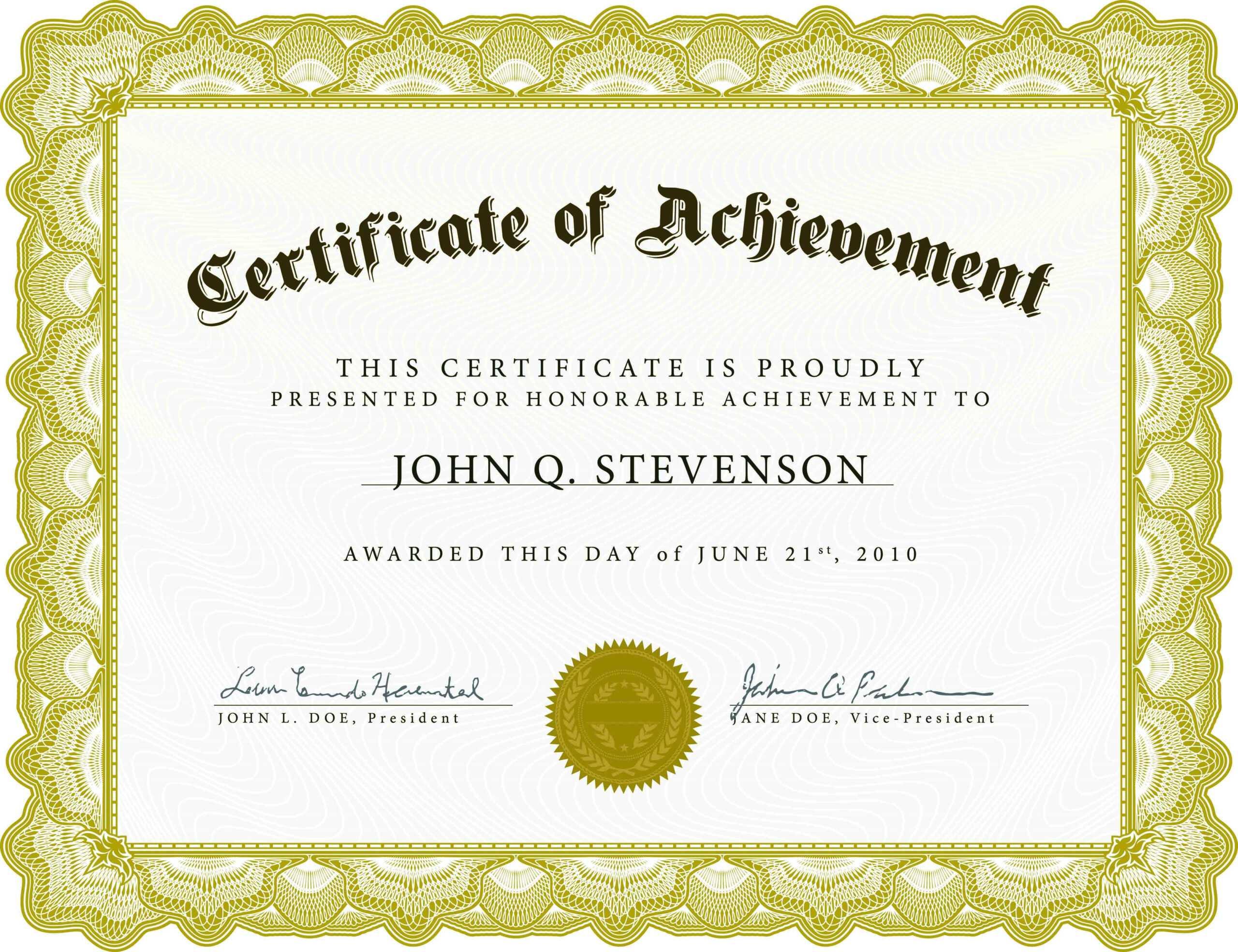 Farewell Certificate Template - Professional Template Inside Farewell Certificate Template
