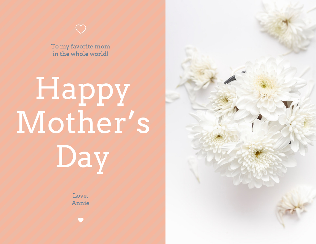 Floral Happy Mother's Day Card Template Intended For Mothers Day Card Templates